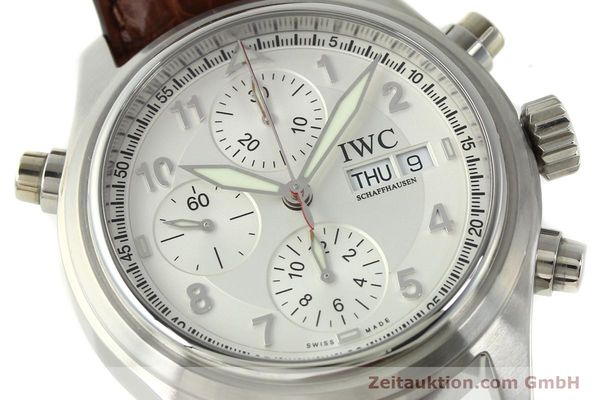 Used luxury watch IWC Doppelchronograph chronograph steel automatic Kal. 79230 Ref. 3713  | 150613 02