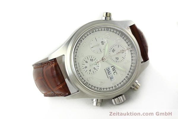 Used luxury watch IWC Doppelchronograph chronograph steel automatic Kal. 79230 Ref. 3713  | 150613 03