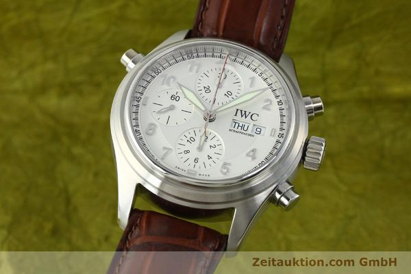 Used luxury watch IWC Doppelchronograph chronograph steel automatic Kal. 79230 Ref. 3713  | 150613 04