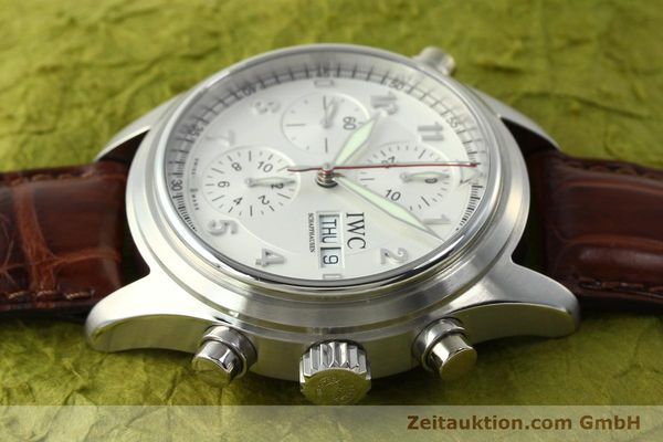 Used luxury watch IWC Doppelchronograph chronograph steel automatic Kal. 79230 Ref. 3713  | 150613 05