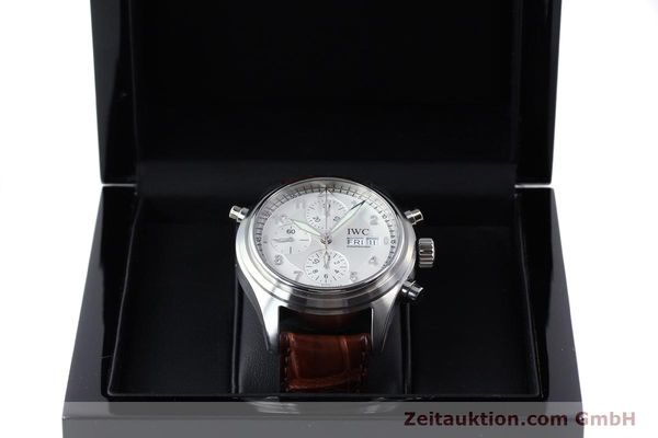 Used luxury watch IWC Doppelchronograph chronograph steel automatic Kal. 79230 Ref. 3713  | 150613 07