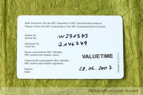 Used luxury watch IWC Doppelchronograph chronograph steel automatic Kal. 79230 Ref. 3713  | 150613 08