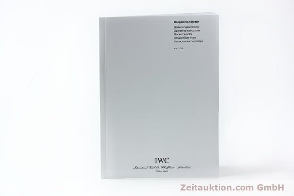 Used luxury watch IWC Doppelchronograph chronograph steel automatic Kal. 79230 Ref. 3713  | 150613 14