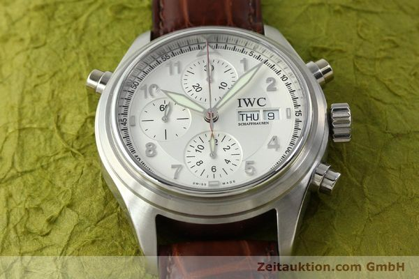 Used luxury watch IWC Doppelchronograph chronograph steel automatic Kal. 79230 Ref. 3713  | 150613 18