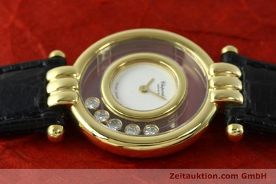 CHOPARD LADY 18K GOLD HAPPY DIAMONDS DAMENUHR DIAMANTEN REF 4105 VP: 10940,-EUR [150626]