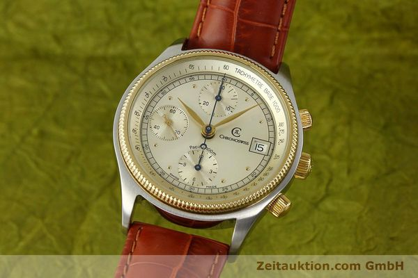 CHRONOSWISS PACIFIC CHRONOGRAPH STEEL / GOLD AUTOMATIC KAL. 7414 VAL 7750  [150647]