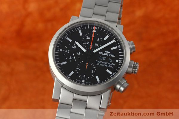 FORTIS SPACEMATIC AUTOMATIK CHRONOGRAPH HERRENUHR FLIEGERUHR VP: 2585,- EURO [150755]