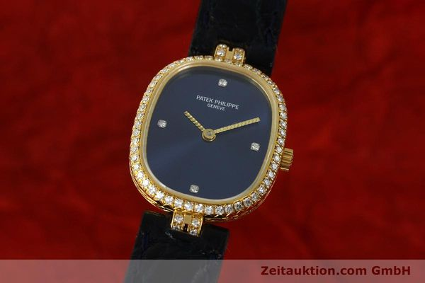 PATEK PHILIPPE LADY ELLIPSE 18K GELB GOLD DAMENUHR 4698 DIAMANTEN VP: 18100,- EU [150777]