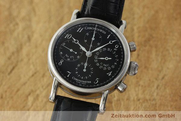 CHRONOSWISS CHRONOGRAPHE ACIER AUTOMATIQUE KAL. 741C ETA 7750 LP: 6100EUR  [150789]