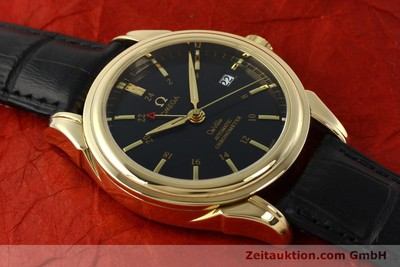 OMEGA 18K DE VILLE GMT CO-AXIAL CHRONOMETER HERREN 46338033 VP: 17100,- EURO [150807]