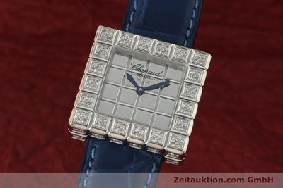 CHOPARD ICE CUBE OR BLANC 18 CT QUARTZ KAL. ETA 201001 LP: 20330EUR [150827]