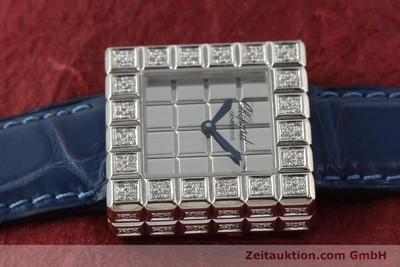 CHOPARD ICE CUBE 18 CT WHITE GOLD QUARTZ KAL. ETA 201001 LP: 20330EUR [150827]