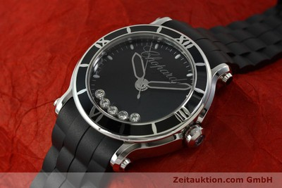 CHOPARD HAPPY SPORT EDELSTAHL HERRENUHR DIAMANTEN 1572493 NP: 6900,- EURO [150869]