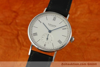 NOMOS LUDWIG STEEL MANUAL WINDING KAL. ALPHA 64390 LP: 1460EUR [150879]