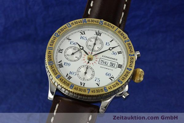 LONGINES HOUR ANGLE LINDBERGH CHRONOGRAPH AUTOMATIK GOLD / STAHL L2.602.5 [150882]