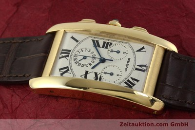 CARTIER TANK CHRONOGRAPH 18 CT GOLD QUARTZ KAL. 212P [150903]