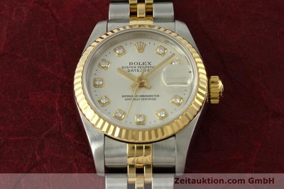 ROLEX LADY OYSTER DATEJUST GOLD /STAHL DAMENUHR DIAMANTEN REF 6917 VP: 9200,- Euro [150917]