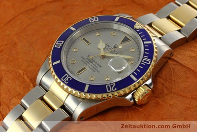 ROLEX OYSTER SUBMARINER SULTAN DATE GOLD / STAHL DIAMANTEN 16613 VP: 11600,- Euro [150987]