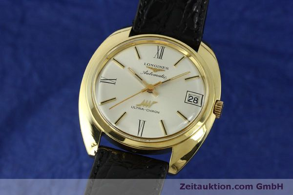 LONGINES ULTRA-CHRON 18K GOLD AUTOMATIK HERRENUHR REF. 8072-2 VP: 4200,- EURO [151033]