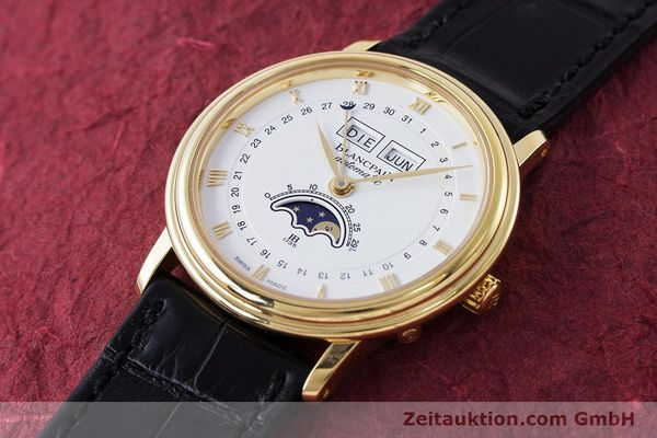 Used luxury watch Blancpain Villeret 18 ct gold automatic Kal. 6595 VINTAGE  | 151055 01