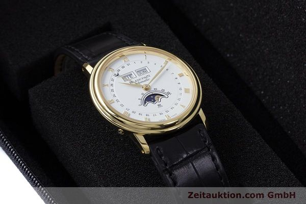 Used luxury watch Blancpain Villeret 18 ct gold automatic Kal. 6595 VINTAGE  | 151055 07