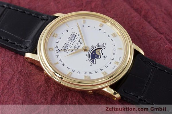 Used luxury watch Blancpain Villeret 18 ct gold automatic Kal. 6595 VINTAGE  | 151055 15