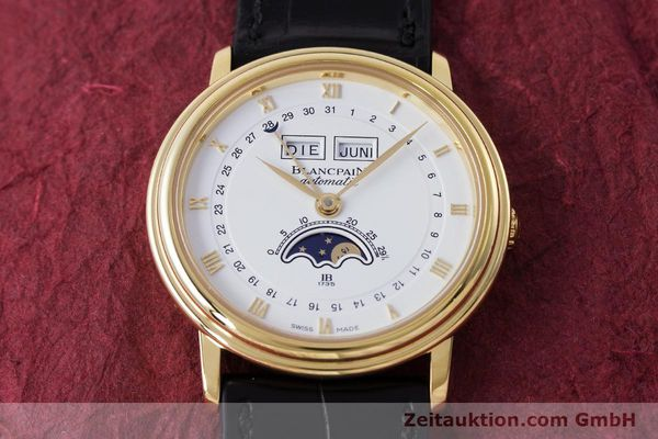 Used luxury watch Blancpain Villeret 18 ct gold automatic Kal. 6595 VINTAGE  | 151055 16