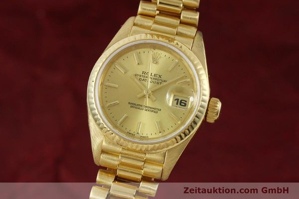 ROLEX LADY 18K (0,750) GOLD DATEJUST AUTOMATIK DAMENUHR 69178 VP: 20600,- EURO [151057]