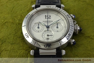 CARTIER PASHA CHRONOGRAPH STEEL AUTOMATIC KAL. 205 [151065]