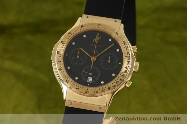 HUBLOT MDM CHRONOGRAPH 18 CT GOLD QUARTZ KAL. 1270 LP: 26700EUR [151066]