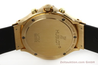 HUBLOT MDM 18K GOLD CHRONOGRAPH HERRENUHR 1620.8 DIAMANTEN VP: 26700,- EURO [151066]