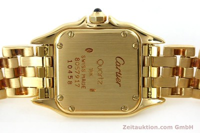 CARTIER PANTHERE 18 CT GOLD QUARTZ KAL. 187 [151137]