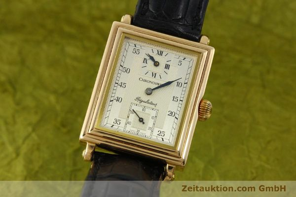 CHRONOSWISS 18K GOLD REGULATEUR KARREÈ HANDAUFZUG HERRENUHR CH2951 VP: 12800,-Euro [151155]