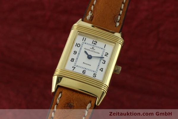 JAEGER LE COULTRE REVERSO 18 CT GOLD QUARTZ KAL. 608 LP: 10400EUR [151185]
