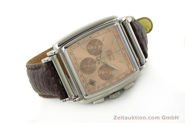 Used luxury watch Zenith El Primero chronograph steel automatic Kal. 400 Ref. 90/01 0420 400  | 151210 03