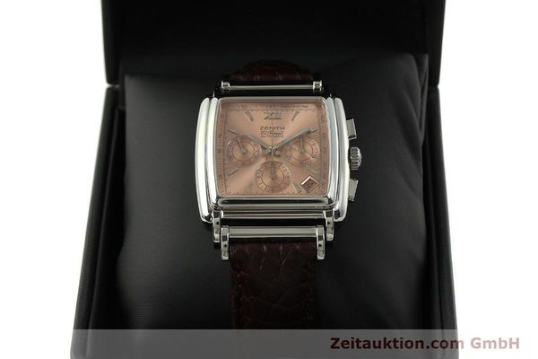 Used luxury watch Zenith El Primero chronograph steel automatic Kal. 400 Ref. 90/01 0420 400  | 151210 07