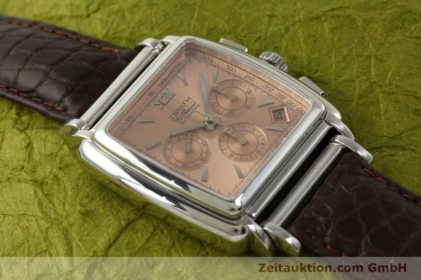 Used luxury watch Zenith El Primero chronograph steel automatic Kal. 400 Ref. 90/01 0420 400  | 151210 13