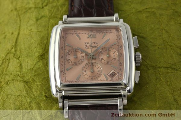 Used luxury watch Zenith El Primero chronograph steel automatic Kal. 400 Ref. 90/01 0420 400  | 151210 14
