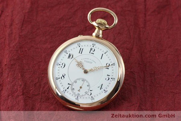 A. LANGE & SÖHNE ALS TASCHENUHR ORO ROSSO 18 CT CARICA MANUALE KAL. 45  [151247]