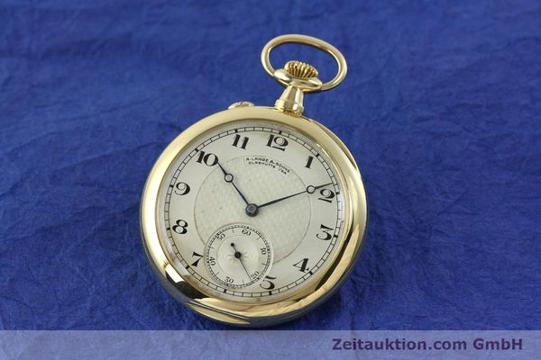 A. LANGE & SÖHNE ALS TASCHENUHR ORO 18 CT CARICA MANUALE KAL. 41  [151249]