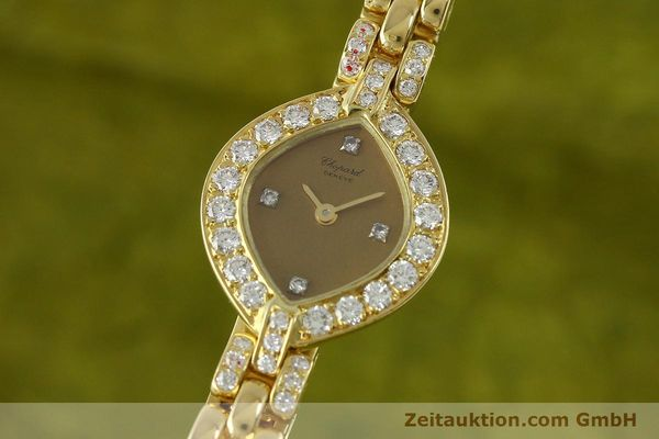 CHOPARD LADY 18K (0,750) GOLD DAMENUHR DIAMANTEN SCHMUCKUHR VP: 27790,- Euro [151276]