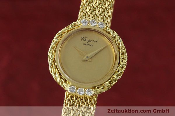 CHOPARD LADY 18K (0,750) GOLD DAMENUHR DIAMANTEN SCHMUCKUHR VP: 19750,- Euro [151281]
