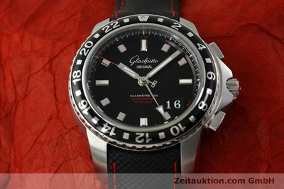 GLASHÜTTE ORIGINAL SPORT EVOLUTION GMT AUTOMATIK REF 39-55-43-03-14 LP: 7950,- Euro [151295]