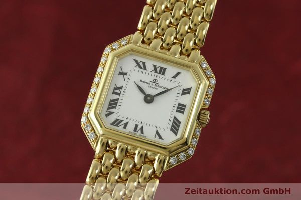 BAUME & MERCIER LADY 18K GOLD DAMENUHR CLASSIQUE DIAMANTEN VP: 8250,- EURO [151314]