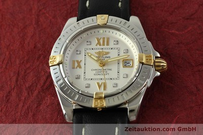 BREITLING LADY COCKPIT STAHL / GOLD DIAMANTEN DAMENUHR B71356 VP: 4430,- EURO [151322]