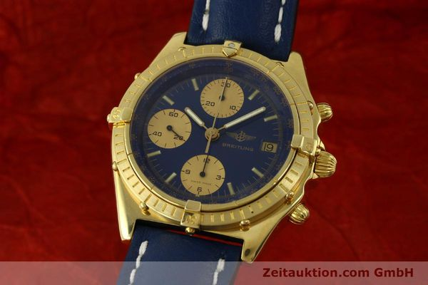 BREITLING CHRONOMAT CHRONOGRAPHE OR 18 CT AUTOMATIQUE KAL. VAL. 7750 LP: 23030EUR [151376]