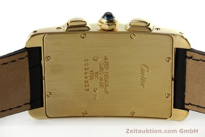 CARTIER TANK CHRONOGRAPH 18 CT GOLD QUARTZ KAL. 212P [151390]