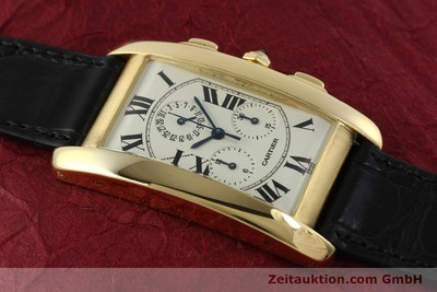 CARTIER TANK CHRONOGRAPHE OR 18 CT QUARTZ KAL. 212P [151390]