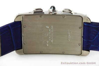 CARTIER TANK CHRONOGRAPH 18 CT WHITE GOLD QUARTZ KAL. 212P [151391]