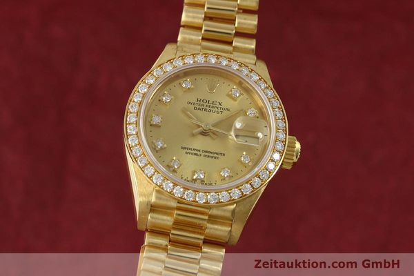 ROLEX LADY DATEJUST 18 CT GOLD AUTOMATIC KAL. 2135 LP: 29650EUR [151392]